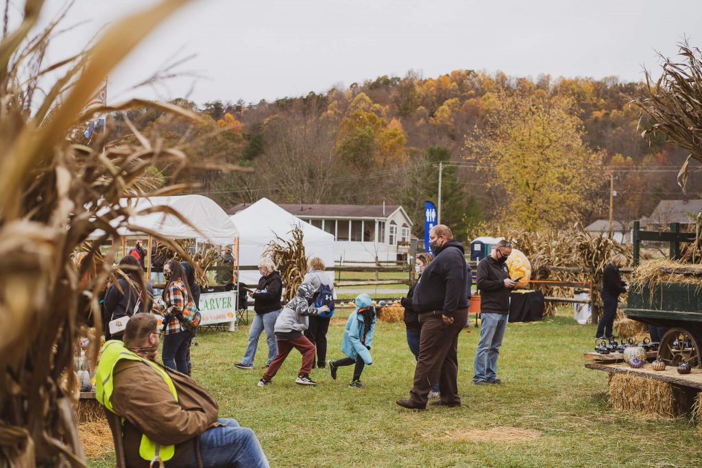Children playing games during the Glass Pumpkin Festival