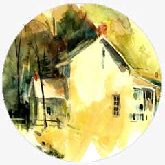 Watercolor work by Ed Kitchen